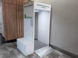 cabine de desinfecção