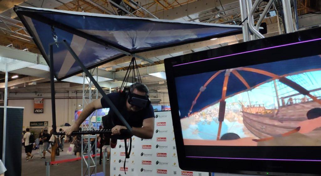 simulador de asa delta pela techno motion