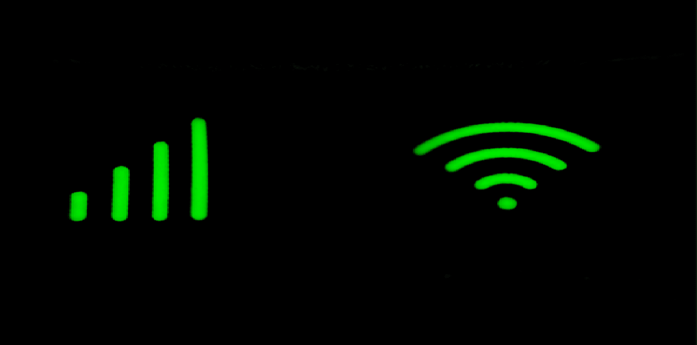 sinal de wifi e internet