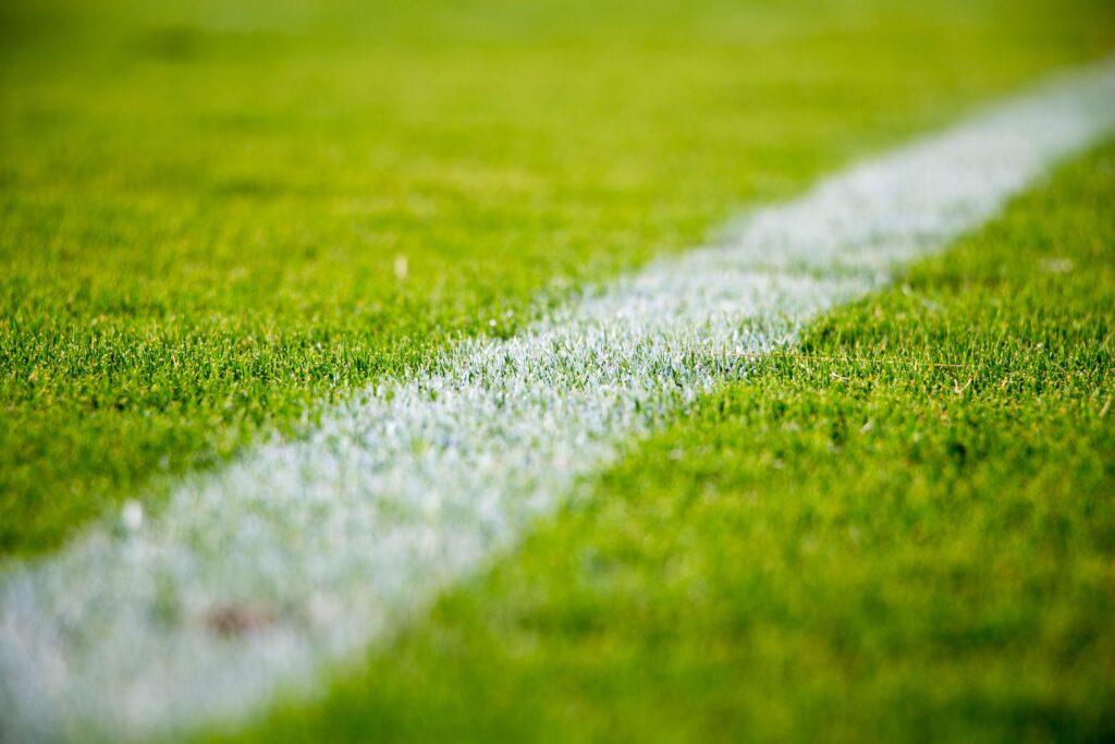 imagem simulando um campo na tecnologia no futebol